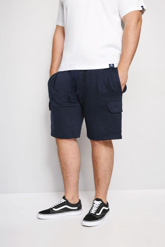 LOYALTY & FAITH Navy Fleetwood Short