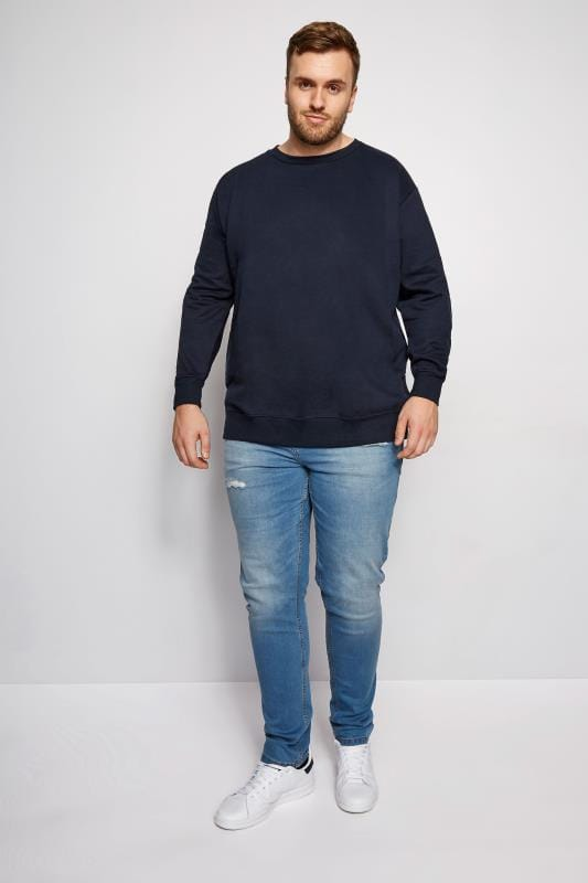 LOYALTY & FAITH Navy Morecambe Sweatshirt