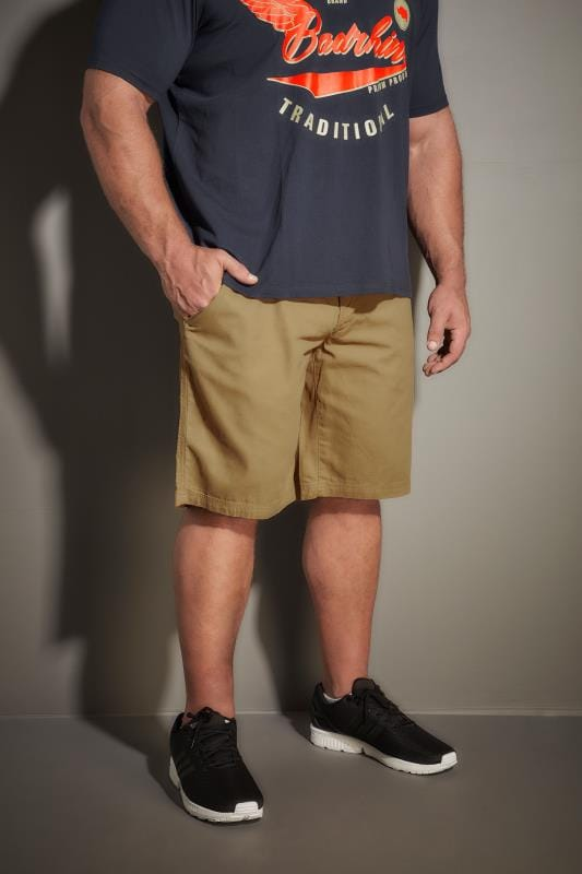 Cargo Shorts LOYALTY & FAITH Tan Utility Shorts With Canvas Belt 170533