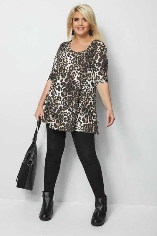 Leopard Print Animal Swing Top