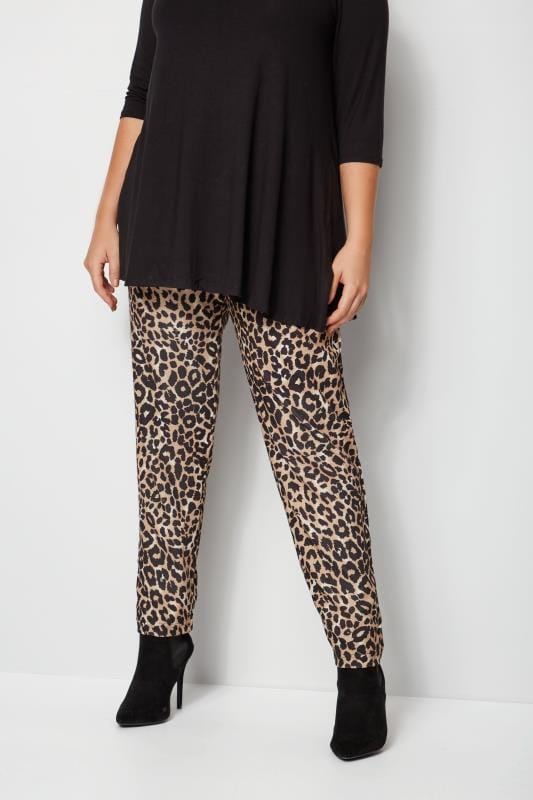 Plus Size Harem Trousers Leopard Print Harem Trousers