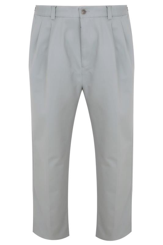 Chinos & Cords Light Grey Chinos With Pleats - TALL 090117