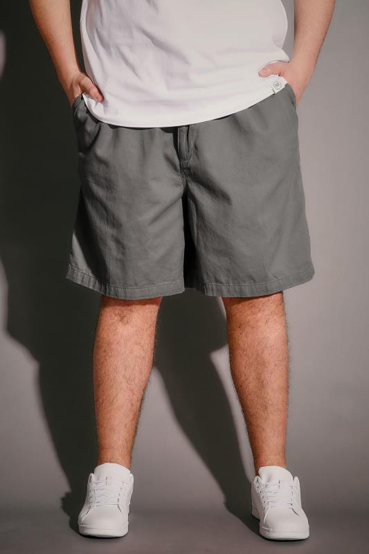 Light Khaki Chino Shorts With Elasticated Waist Band