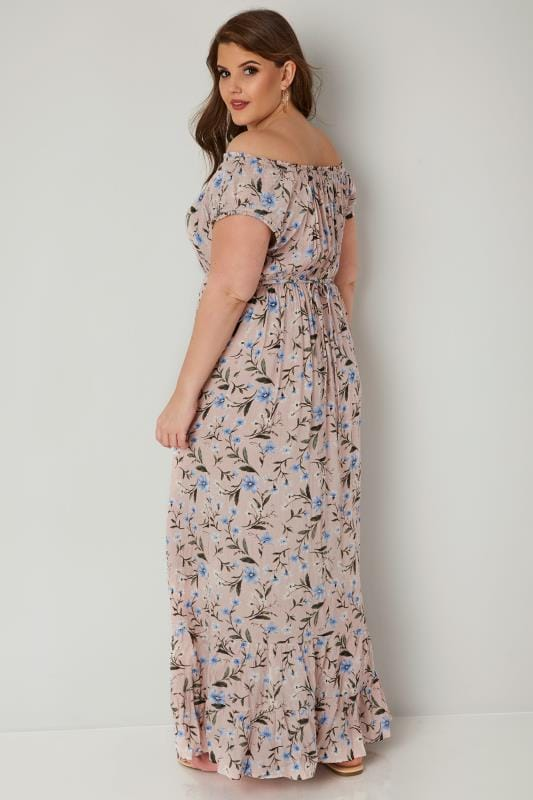 Light Pink Floral Maxi Dress