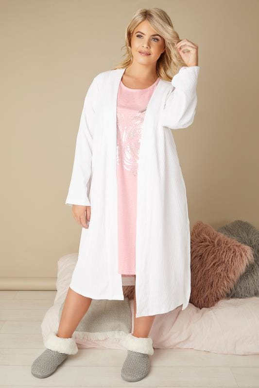 Light Pink Marl Foil Butterfly Print Nightdress