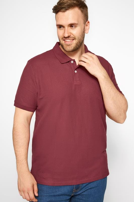 MONTEGO Burgundy Polo Shirt