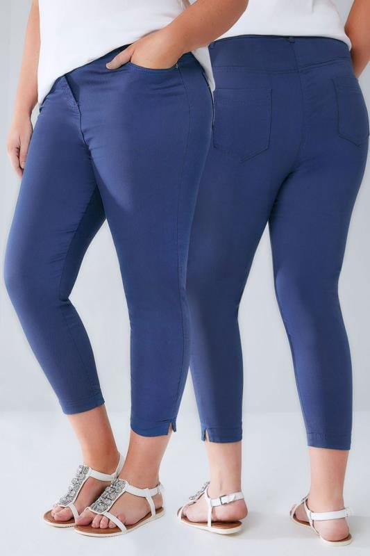 Mid Blue Cropped JENNY Jeggings