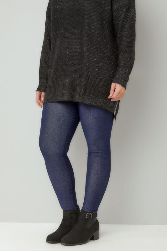 Jeggings Mid Blue Jersey JENNY Jeggings 142065