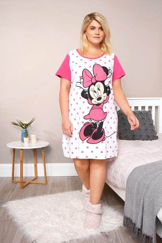 White & Pink Disney Minnie Mouse Nightdress
