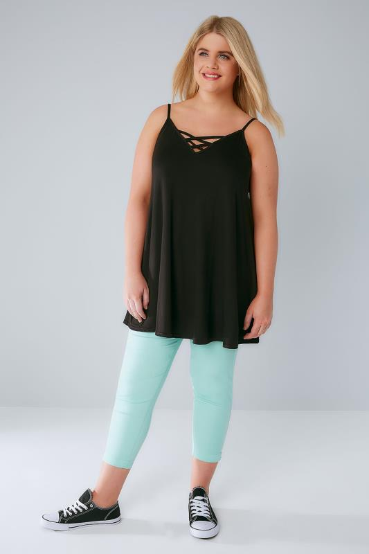 Mint Cropped Denim Jeggings