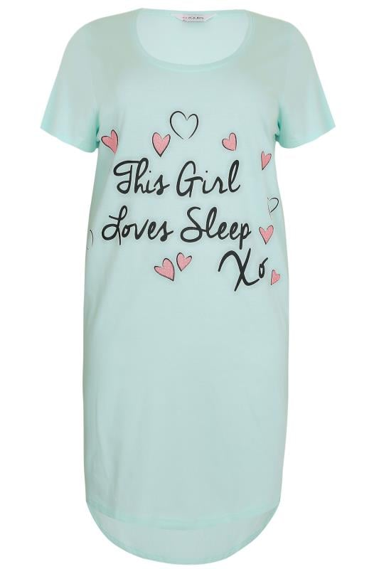 Mint 'This Girl Loves Sleep' Nightdress