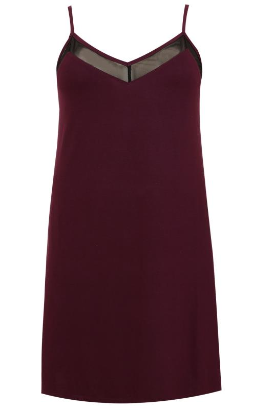 Mulberry Purple Chemise With Mesh Insert