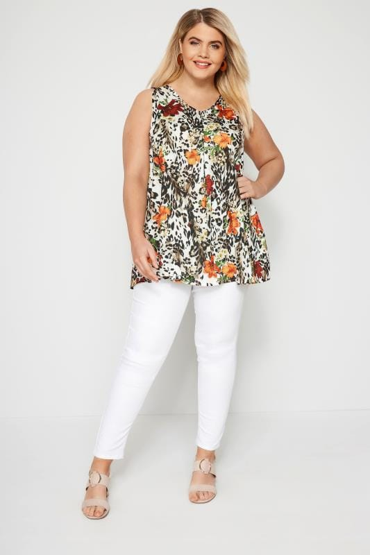 Multi Animal & Floral Swing Top