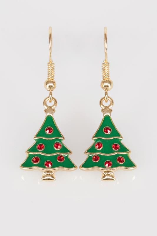 Multi Christmas Tree Novelty Dangle Earrings