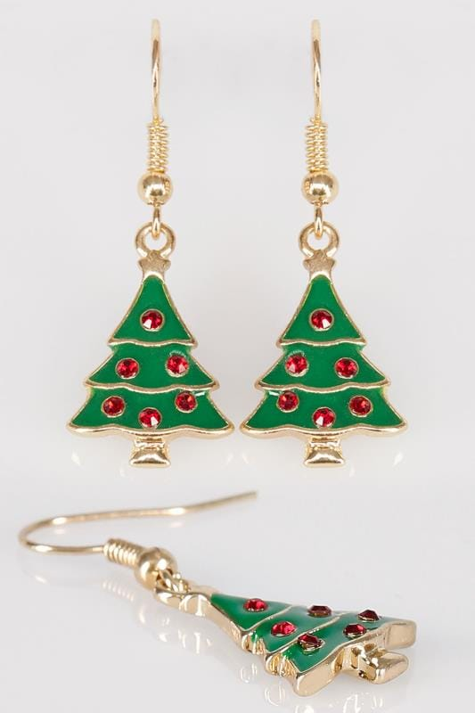 Plus Size Jewellery Multi Christmas Tree Novelty Dangle Earrings