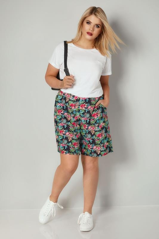Multi Tropical Print Shorts
