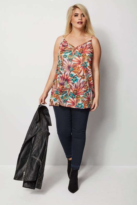 Multi Tropical Woven Cami Top