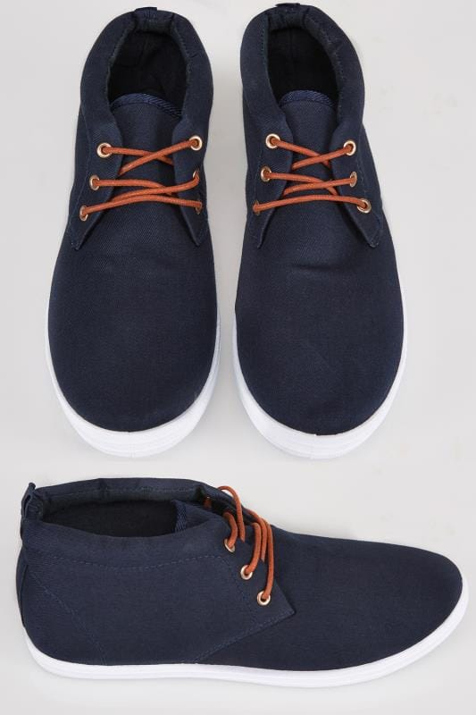 Shoes Navy Chukka Lace Up Boots 101786