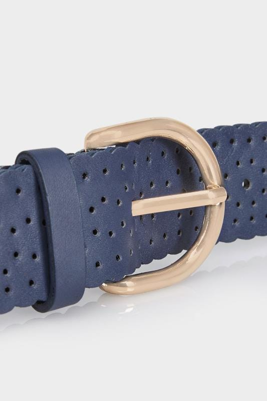 Navy Cut Out Belt