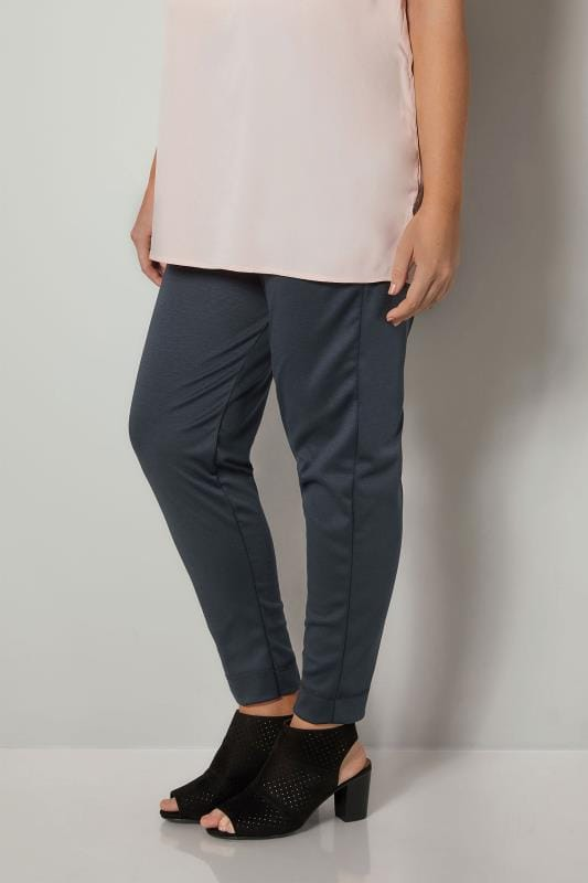 Harem Trousers Navy Harem Trousers With Elasticated Waistband 170388