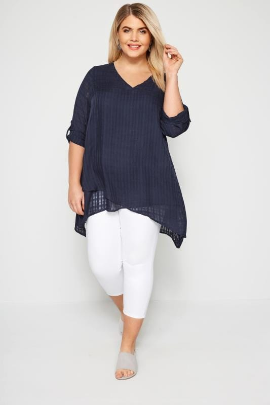 Navy Layered Blouse