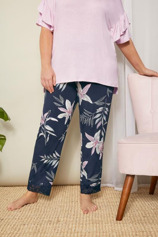 Navy Lily Loungewear Bottoms