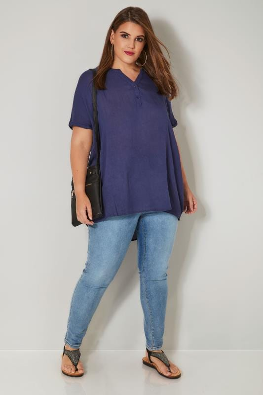 Navy Oversized Blouse