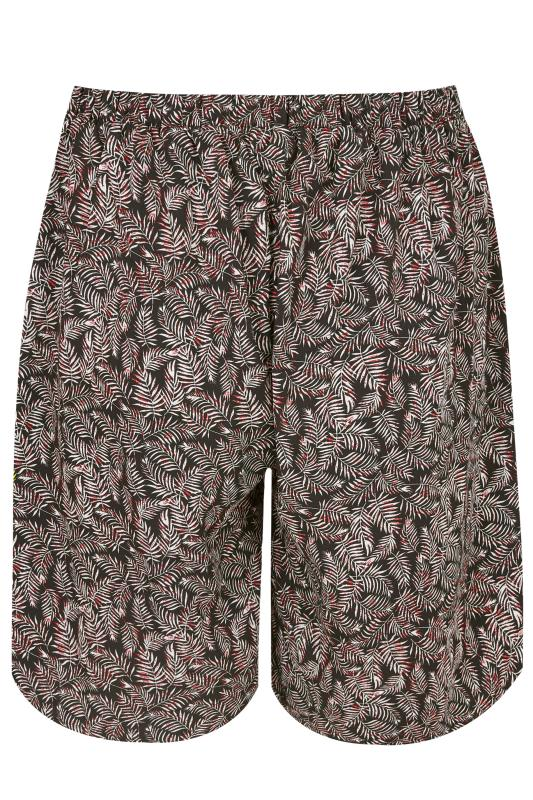 how to head a letter chiffon shorts mit palmen print in dunkelblau amp rot in 40372