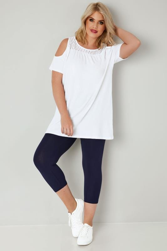 Navy Soft Touch Cropped Leggings