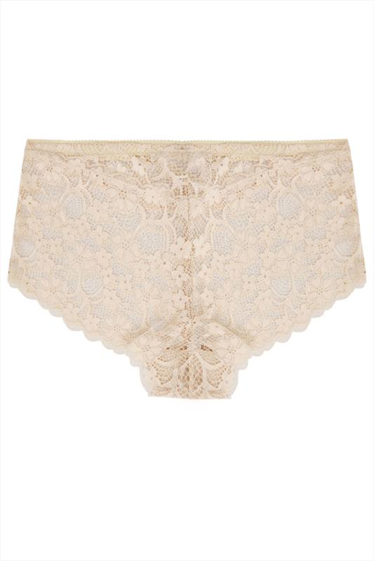 Nude Floral All Lace Short