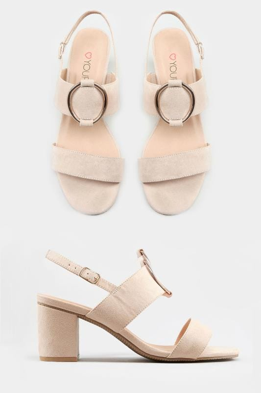 Nude Ring Block Heeled Sandals