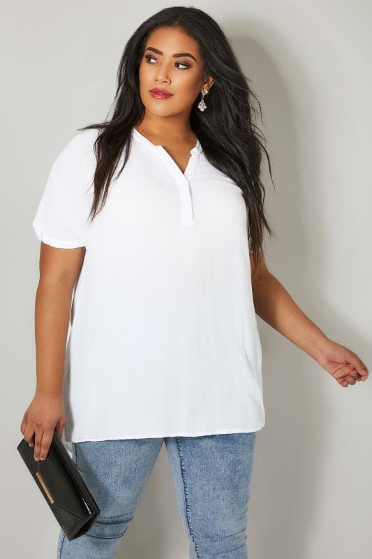 Plus Size Blouses Off White Oversized Blouse
