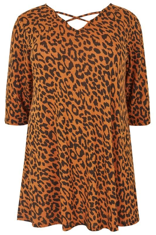 how write a cover letter orange animal print cross front top plus size 16 to 36 22494 | Orange Animal Print Cross Front Top 124384 33d7