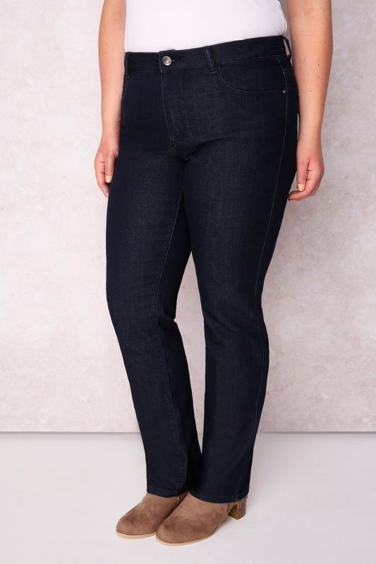 PAPRIKA Dark Denim Straight Leg Jeans - Long Leg 33""