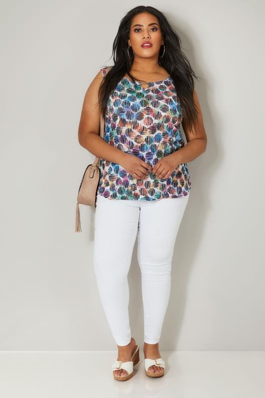 PAPRIKA Multicoloured Spot Print Vest Top