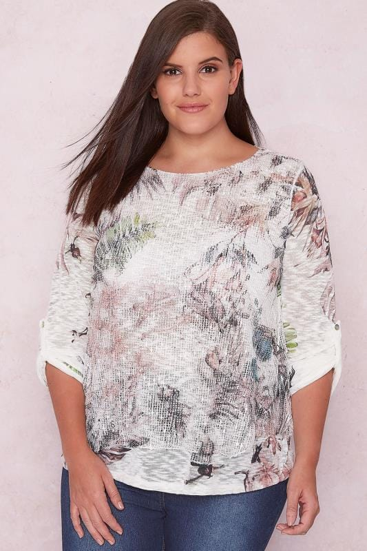 PAPRIKA White Floral Netted Top With Sequin Detail