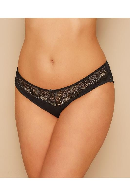 PARFAIT Black Carole Brief With Lace Inserts