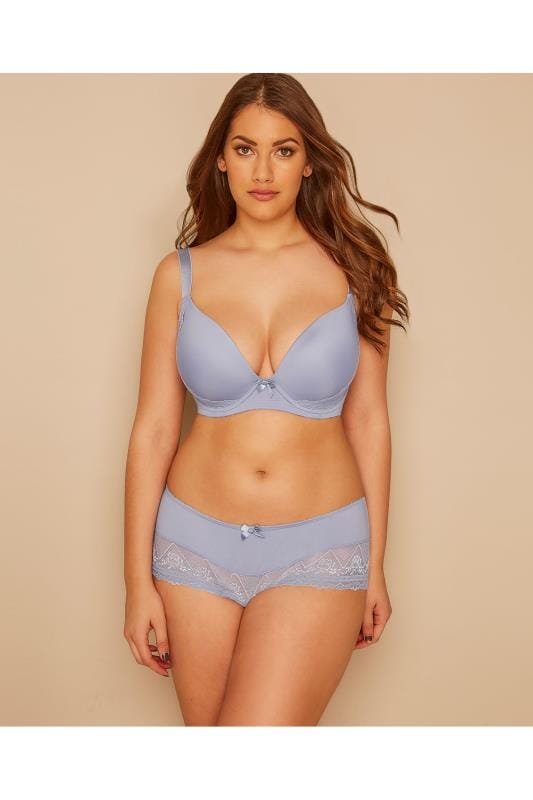 PARFAIT Blue Underwired Casey Bra With Moulded Cups