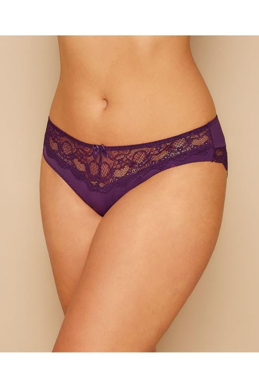PARFAIT Purple Carole Brief With Lace Inserts