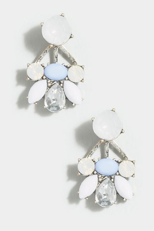 Pearl & Blue Stone Earrings
