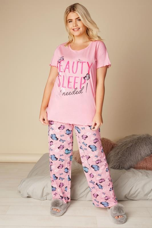 Pink 'Beauty Sleep Needed' Pyjama Top