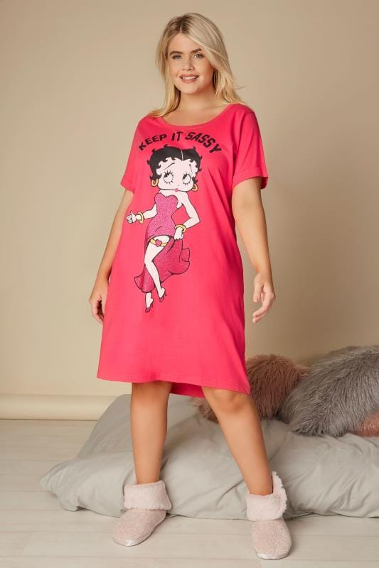 Pink Betty Boop 'Keep It Sassy' Nightdress