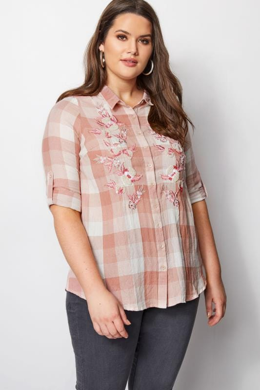 Pink Check Boyfriend Shirt