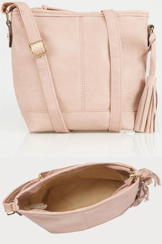 Pink Cross Body Bag With Tassel Detail