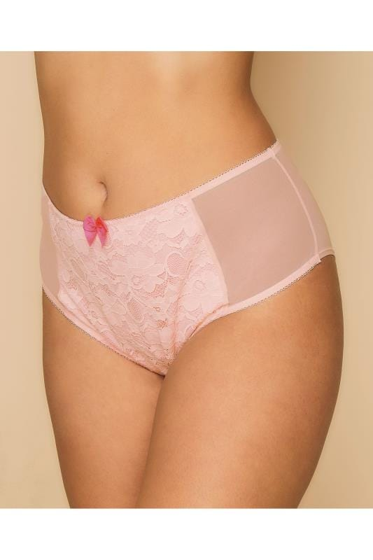 Briefs & Knickers Pink Floral Lace Full Briefs 146155