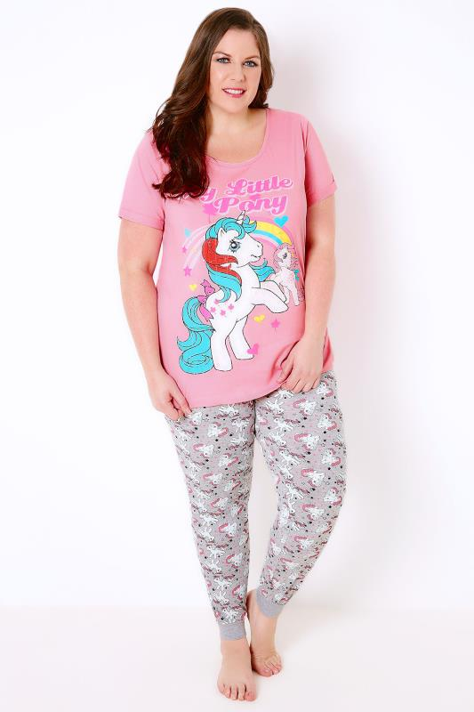 Pink, Grey & Multi My Little Pony Top & Bottoms Pyjama Set