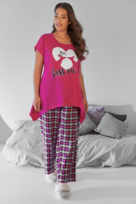 Pyjama Sets Pink 'Kiss Me' Deer Print Pyjama Set 148116
