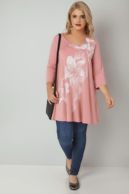 Pink Lily Bead Embellished Top