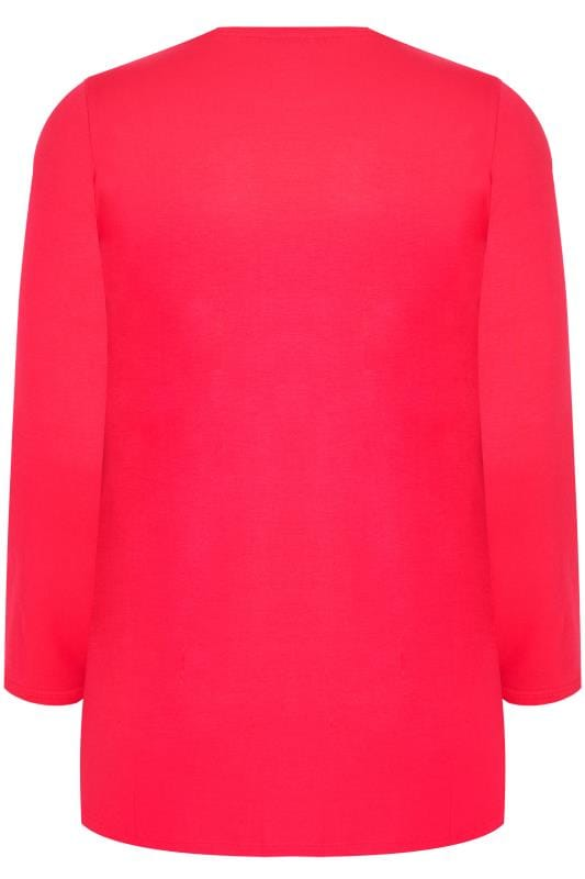 Pink Long Sleeve Soft Touch Jersey Top