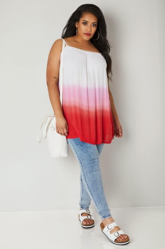 Pink Ombre Longline Swing Top